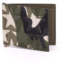 Valentino Camouflage Calf Leather Billfold Wallet