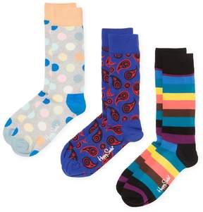 Happy Socks Men's Paisley & Dots Socks (3 PK) - Size 10-13