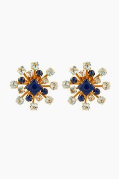 Bounkit Lapis & Blue Quartz Stud Earrings