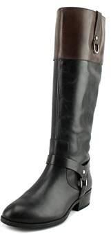 Lauren Ralph Lauren Mesa Women Round Toe Leather Black Knee High Boot.