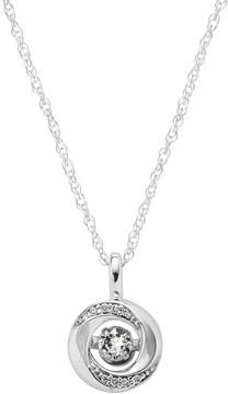 Brilliance+ Brilliance In Motion Brilliance in Motion White Sapphire & Diamond Accent Knot Pendant