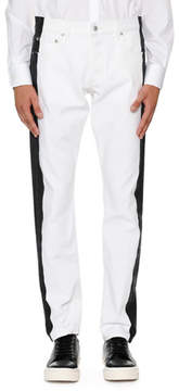 Alexander McQueen Side-Striped Slim-Straight Jeans