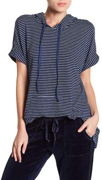 Allen Allen Short Sleeve Striped Hoodie