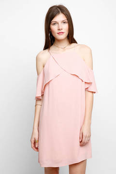 WAYF Lantana Cold Shoulder Ruffle Dress