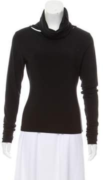 Norma Kamali Bateau Neck Long Sleeve Top