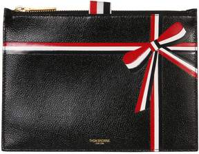 Thom Browne Large Card Holder With Bow Intarsia