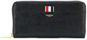 Thom Browne LUCIDO LEATHER LONG ZIP-AROUND PURSE