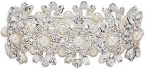 Cezanne Pearl Shield Links Stretch Bracelet