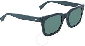 Fendi Khaki Mirror Blue Wayfarer Men's Sunglasses