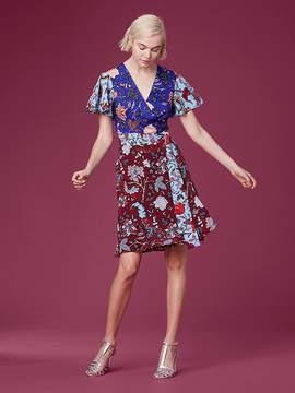Diane von Furstenberg Flutter Sleeve Front Tie Midi Dress