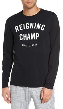 Reigning Champ Men's Gym Logo Long Sleeve T-Shirt