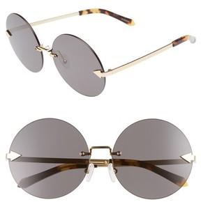 Karen Walker Women's Disco Circus 60Mm Rimless Round Sunglasses - Crazy Tortoise/ Gold