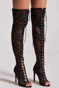 Forever 21 Lace Over-the-Knee Boots