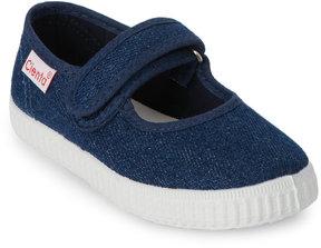 Cienta Toddler/Kids Girls) Blue Denim Mary Jane Sneakers