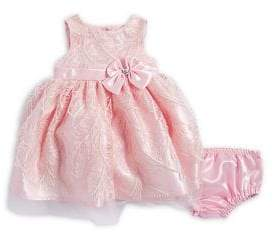 Nannette Baby Girl's Two-Piece Feather Dress and Bloomers Set