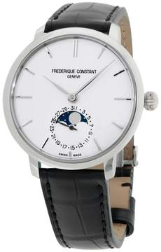 Frederique Constant Slim Line FC-703S3S6 Stainless Steel & Leather Automatic 39mm Mens Watch