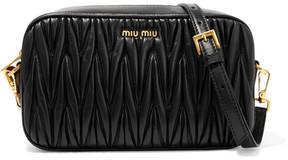 Miu Miu - Matelassé Leather Camera Bag - Black