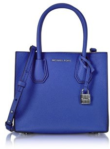 Michael Kors Women's Blue Leather Handbag. - BLUE - STYLE