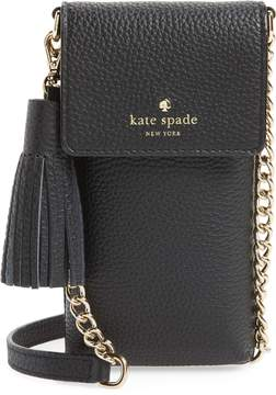 Kate Spade North/South Leather Smartphone Crossbody Bag