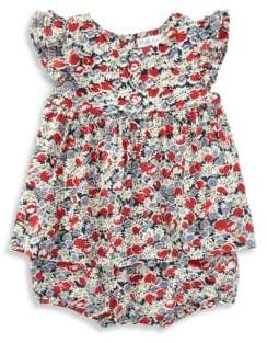 Ralph Lauren Baby's Two-Piece Floral Dress and Bloomers Set