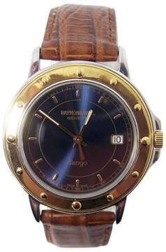 Raymond Weil Tango Stainless Steel / 18K Yellow Gold & Leather 36.2mm Mens Watch