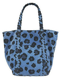 As Is Kelsi Dagger Ryan Leopard Print Double Strap Shoulder bag