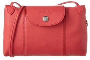 Longchamp Le Pliage Cuir Leather Crossbody. - PEONY - STYLE