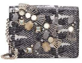 Louise et Cie Sonye Snake Embossed Leather Shoulder Bag