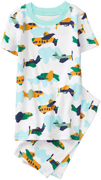Gymboree White Airplane Pajama Set - Boys