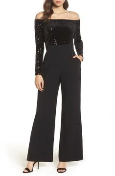 Eliza J Women's Off The Shoulder Wide Leg Jumpsuit