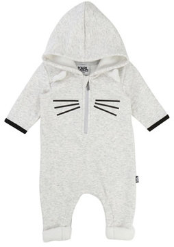 Karl Lagerfeld Hooded Cat Coverall, Size 3-12 Months