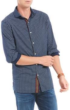 Daniel Cremieux Slim-Fit Geo Print Long-Sleeve Woven Shirt