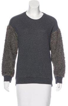 Chalayan Textured Crew Neck Sweatshirt