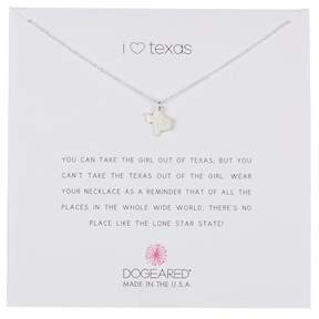 Dogeared Sterling Silver I Heart Texas Charm Necklace
