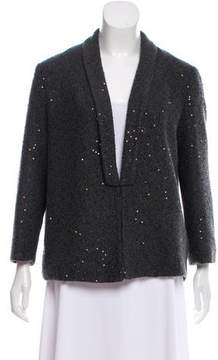 Brunello Cucinelli Sequin Embellished Open-Knit Cardigan