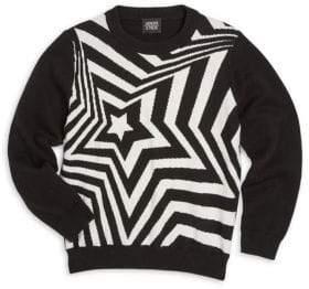 Armani Junior Little Boy's & Boy's Star Solid Pullover