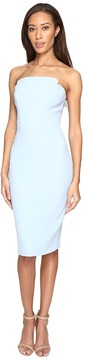 Jill Stuart Strapless Knee Length Fitted Crepy Dress