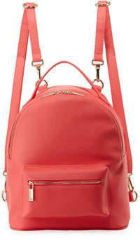 Neiman Marcus Faux Saffiano Clip-Strap Backpack
