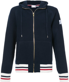 Moncler Gamme Bleu zipped stripe bomber jacket