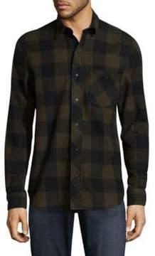 Hudson Checkered Cotton Button-Down Shirt