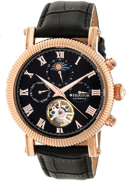 Heritor Winston Mens Black Strap Watch-Herhr5206