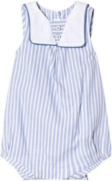 Mayoral Blue Stripe Sailor Collar Bubble