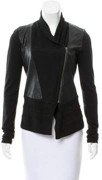 Ohne Titel Knit-trimmed Leather Jacket