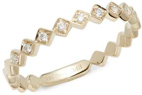 Ef Collection Women's Diamond & 14K Yellow Gold Ring