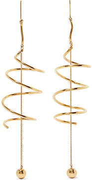 Ellery Solitude Gold-plated Earrings