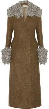 Christopher Kane Marled Wool-Blend Coat