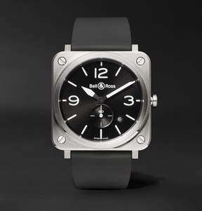 Bell & Ross Br S 39mm Steel And Rubber Watch
