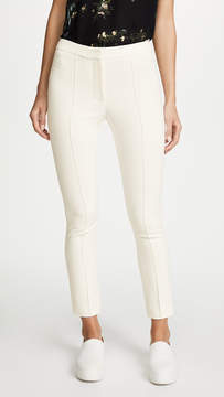 ADAM by Adam Lippes Stretch Cady Cigarette Pants with Pintucks