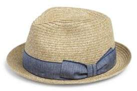 Saks Fifth Avenue COLLECTION Real Toyo Fedora Hat