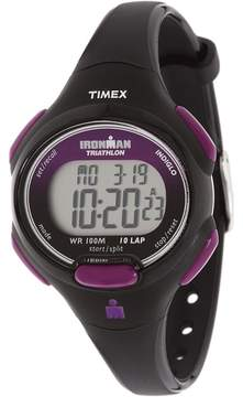 Timex Sport Ironman Black and Purple Mid Size 10 Lap Watch Watches